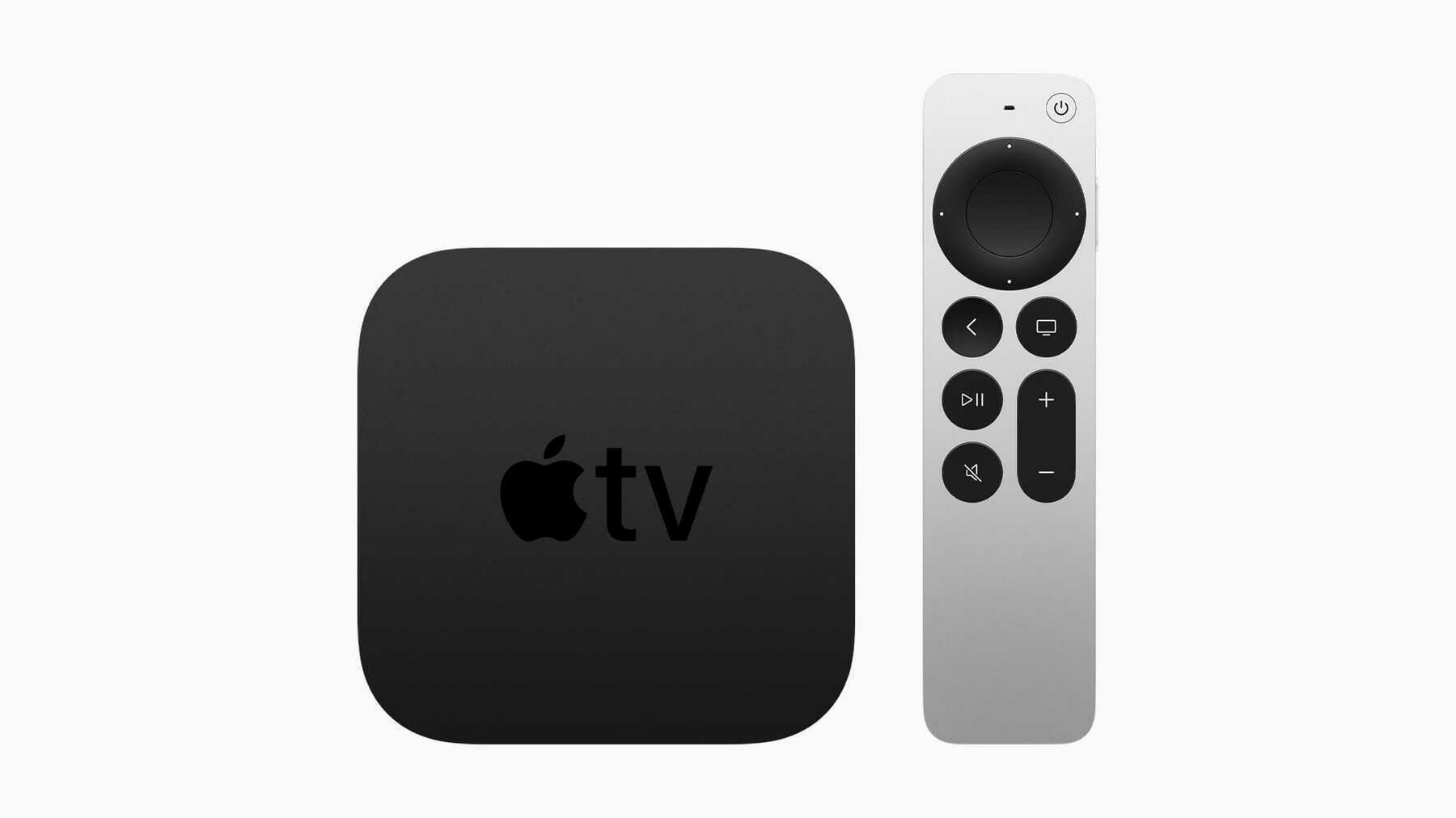 The updated Apple TV 4K with the new Siri Remote.