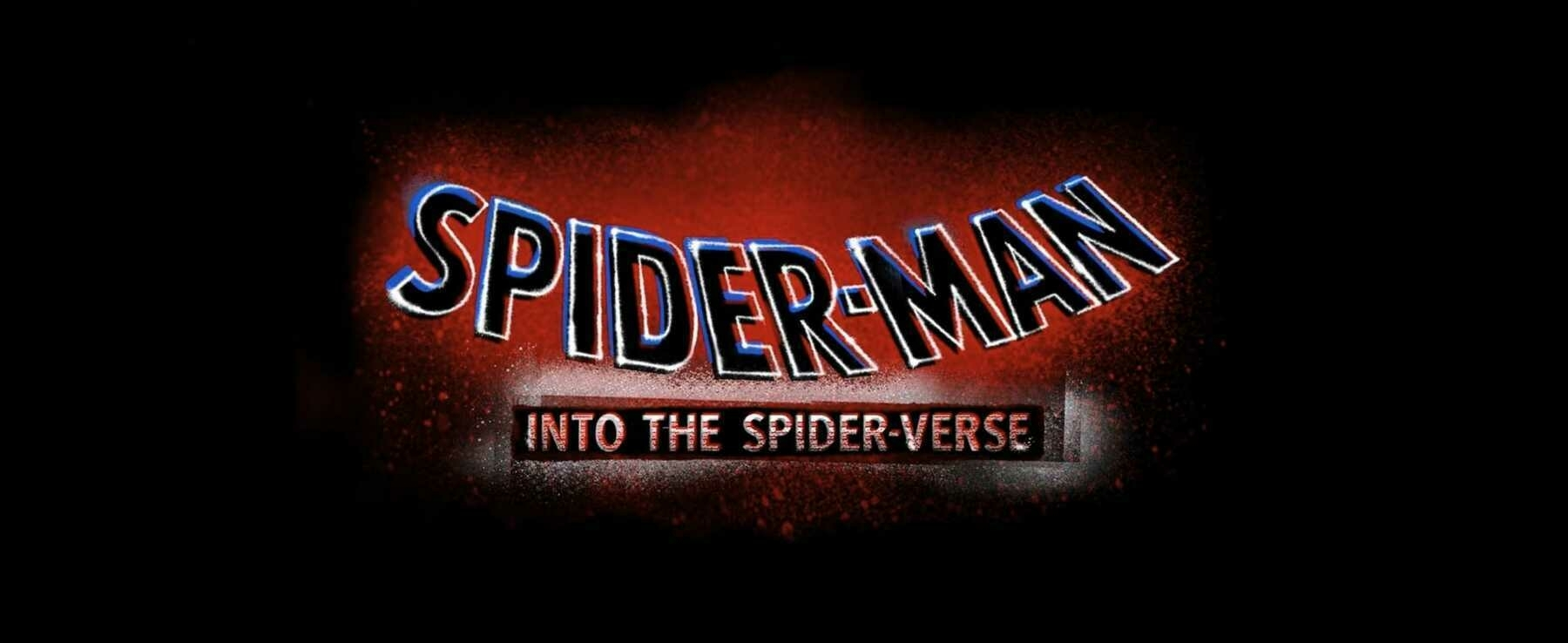 The title card for the film, Spider-Man: Into the Spider-Verse
