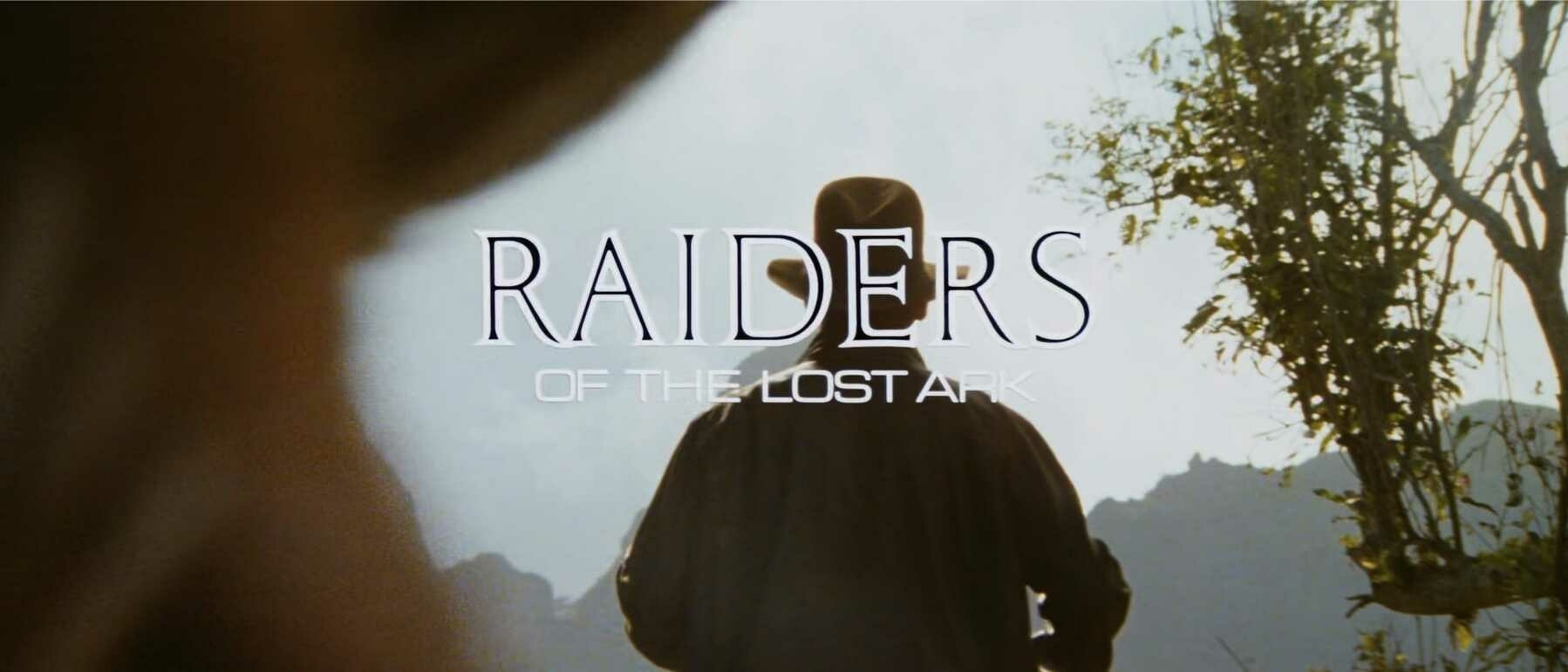 The title card for Raiders of the Lost Ark.