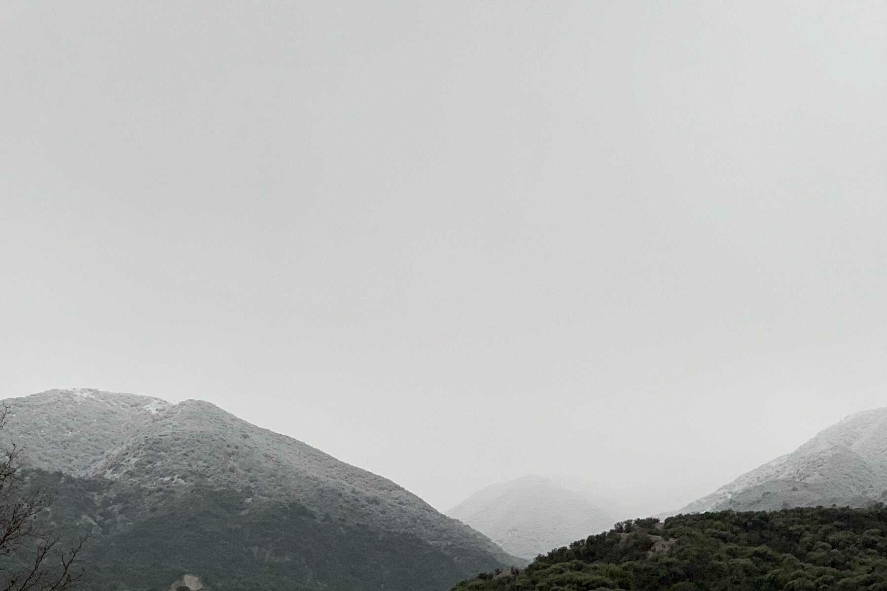 Snowy hills in Corona.