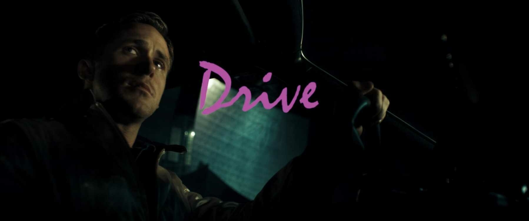 The title card for the film Drive.