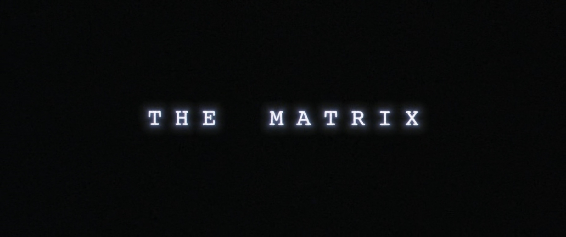The title card for the film, The Matrix.
