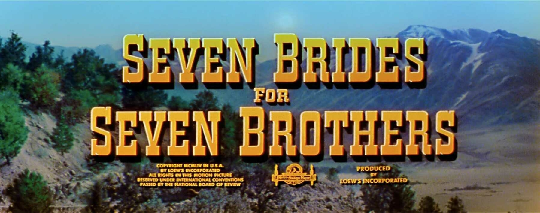 The title card for Seven Brides for Seven Brothers.